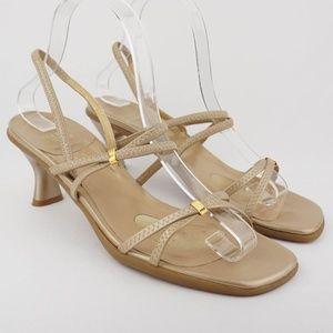 Stuart Weitzman Strappy Gold Sandals